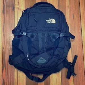North face black recon backpack